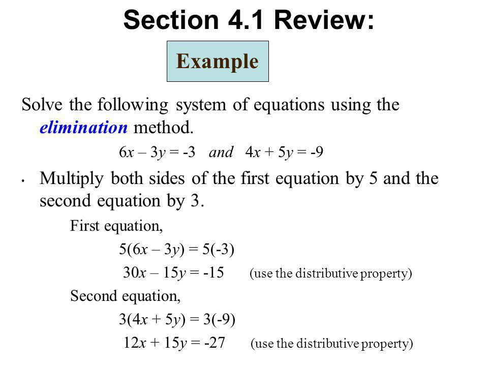 Section 4.1 Review: Example