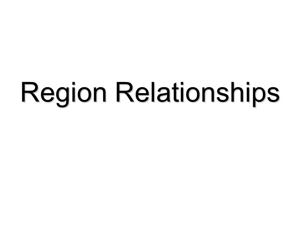 Region Relationships