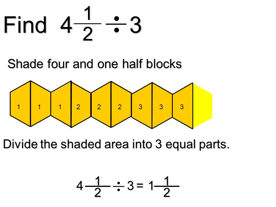 Find Shade four and one half blocks = 1