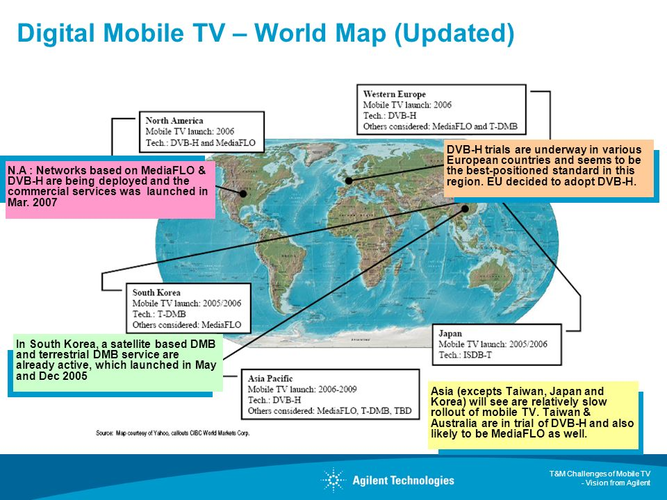 Digital Mobile TV – World Map (Updated)