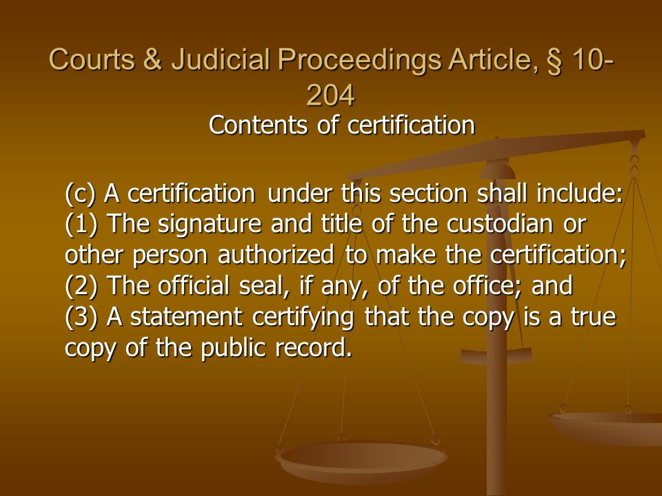 Courts & Judicial Proceedings Article, § 10-204