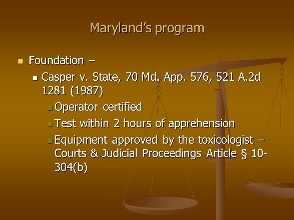 Maryland's program Foundation –