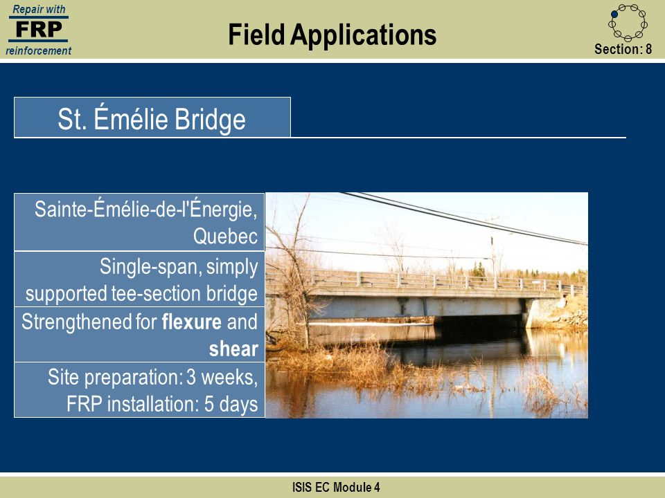 Field Applications St. Émélie Bridge FRP