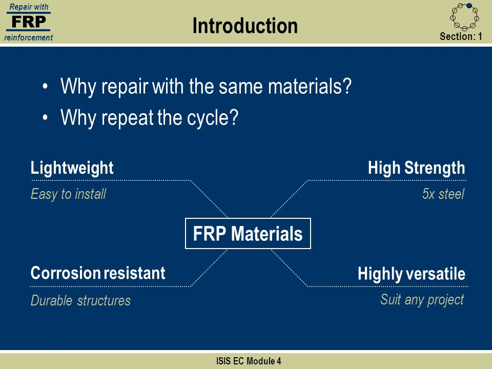 Why repair with the same materials Why repeat the cycle