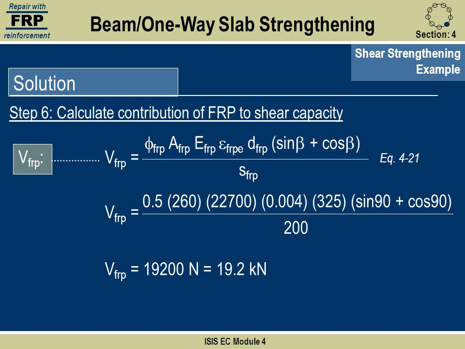 Beam/One-Way Slab Strengthening