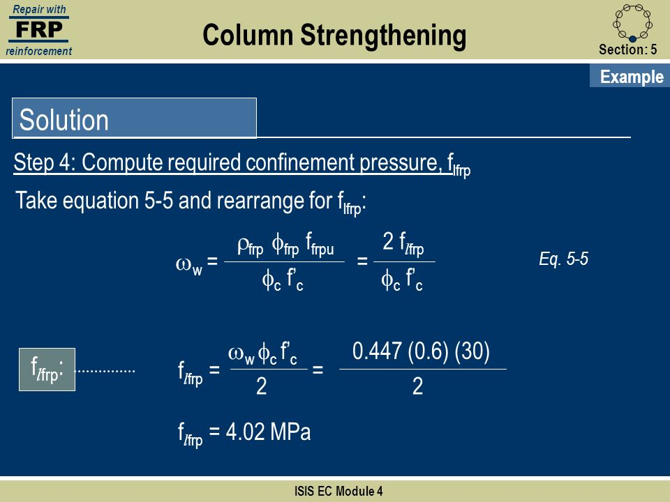 Column Strengthening Solution flfrp: