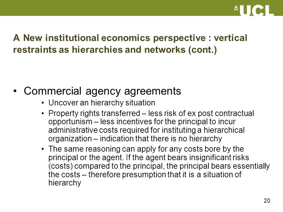 Commercial agency agreements