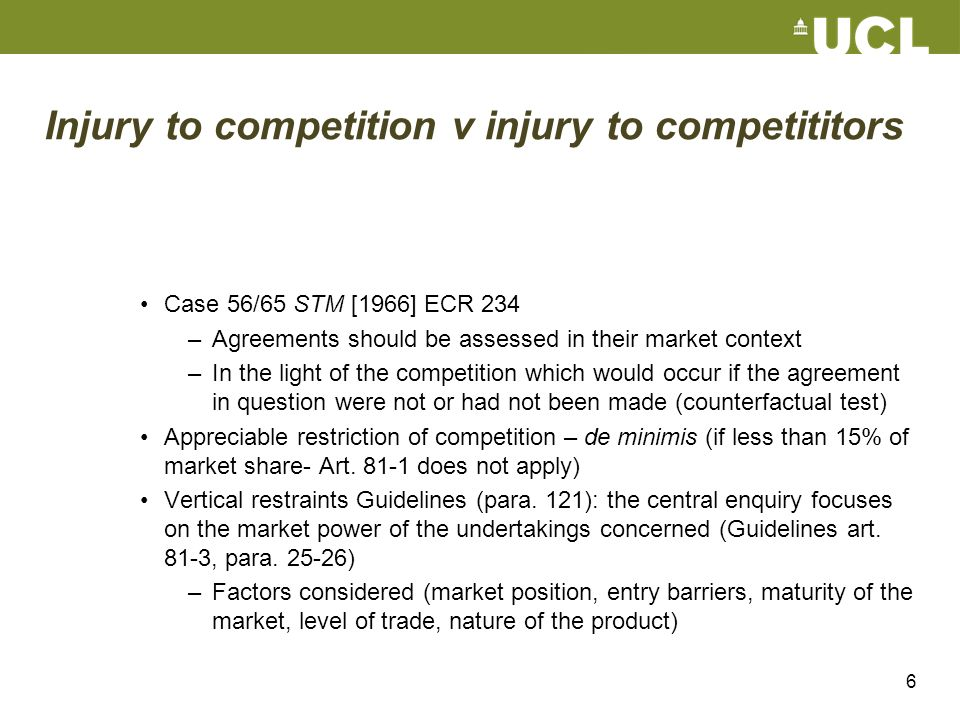 Injury to competition v injury to competititors