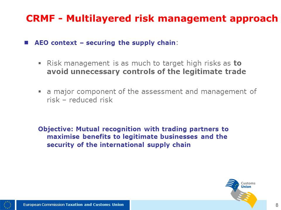 CRMF - Multilayered risk management approach