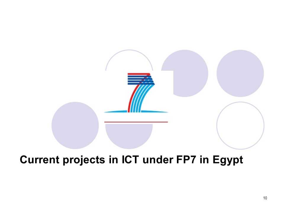 Current projects in ICT under FP7 in Egypt