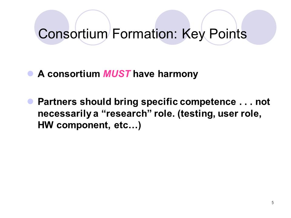 Consortium Formation: Key Points