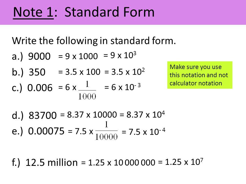 standard form 25  Standard Form, Ratio, Rates & Proportion - ppt video online ...