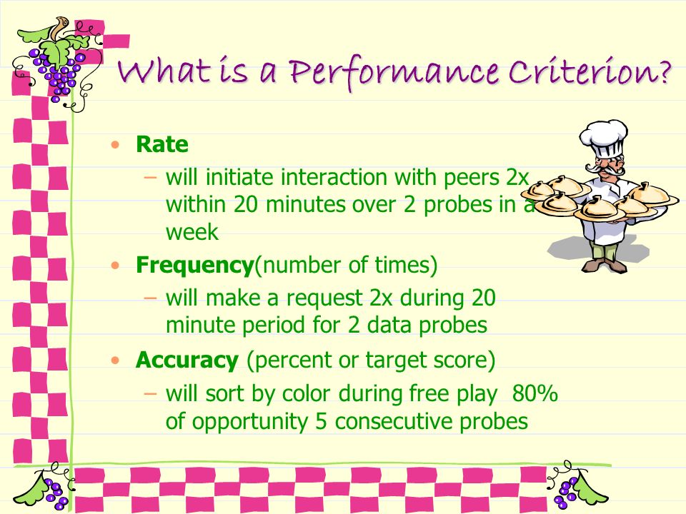 What is a Performance Criterion