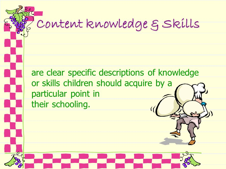 Content knowledge & Skills