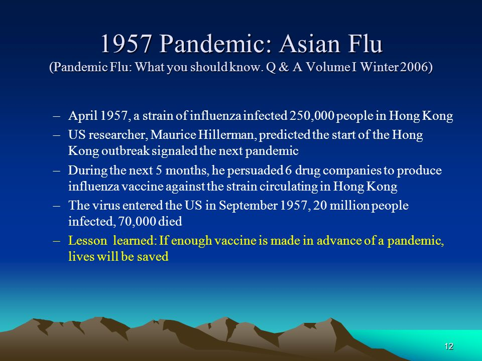 1957 Pandemic: Asian Flu (Pandemic Flu: What you should know