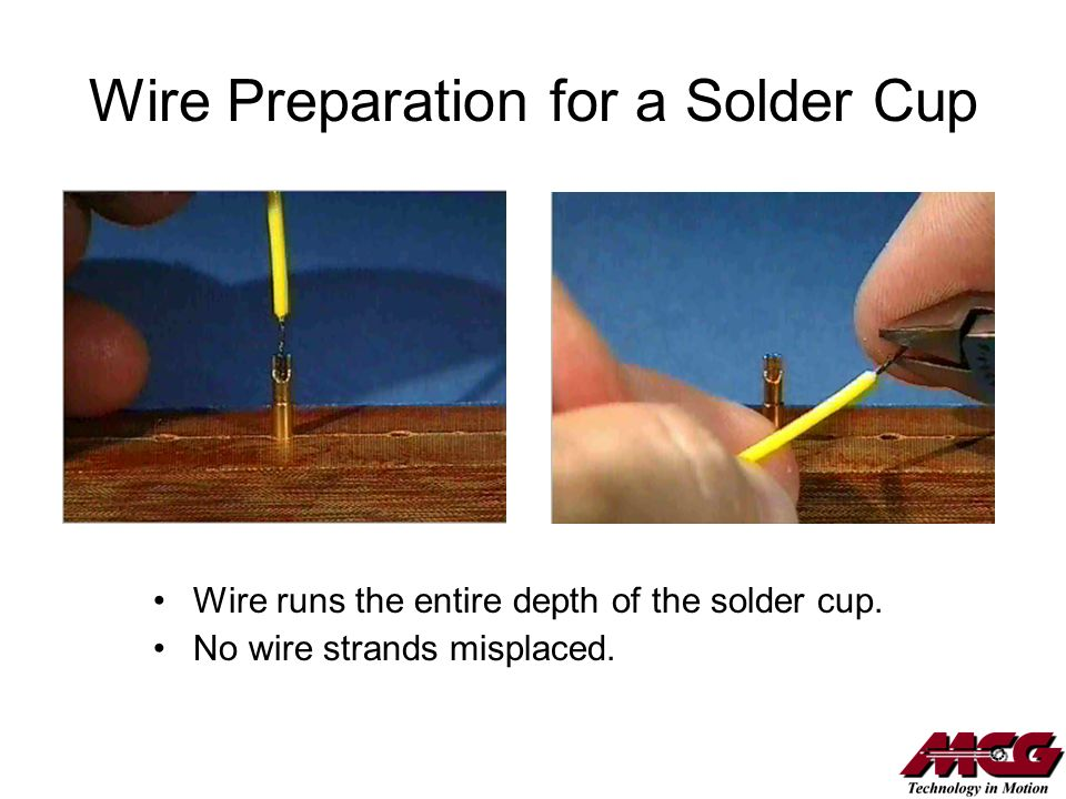 Wire Preparation for a Solder Cup