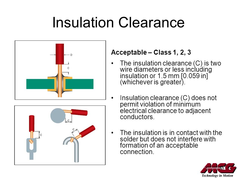Mcg employee solder training course ppt download 69 insulation clearance acceptable greentooth Gallery