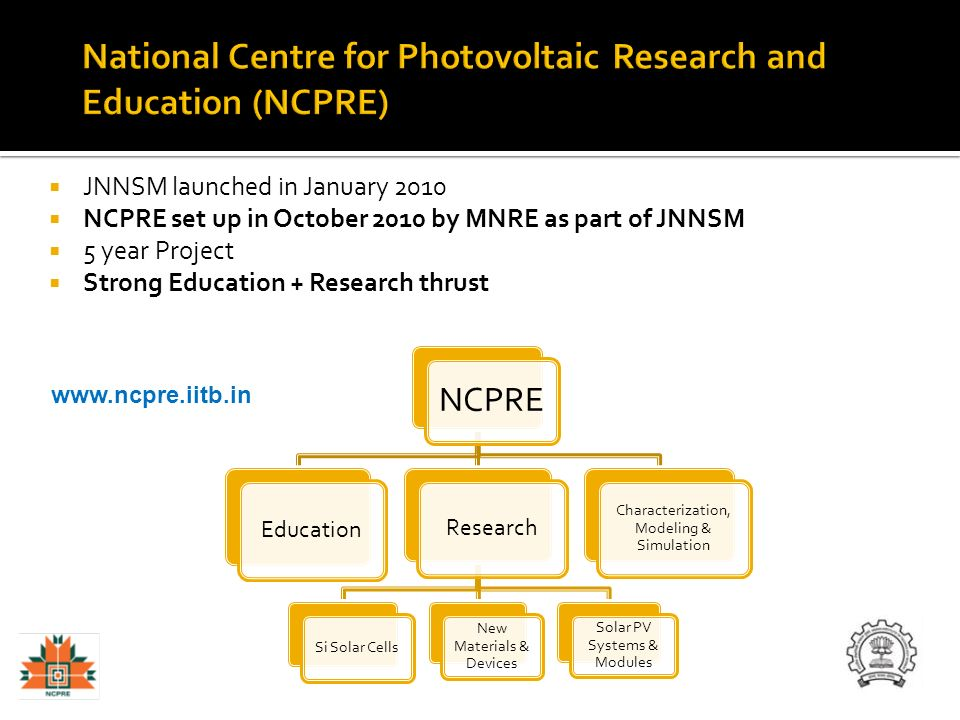 National Centre for Photovoltaic Research and Education (NCPRE)