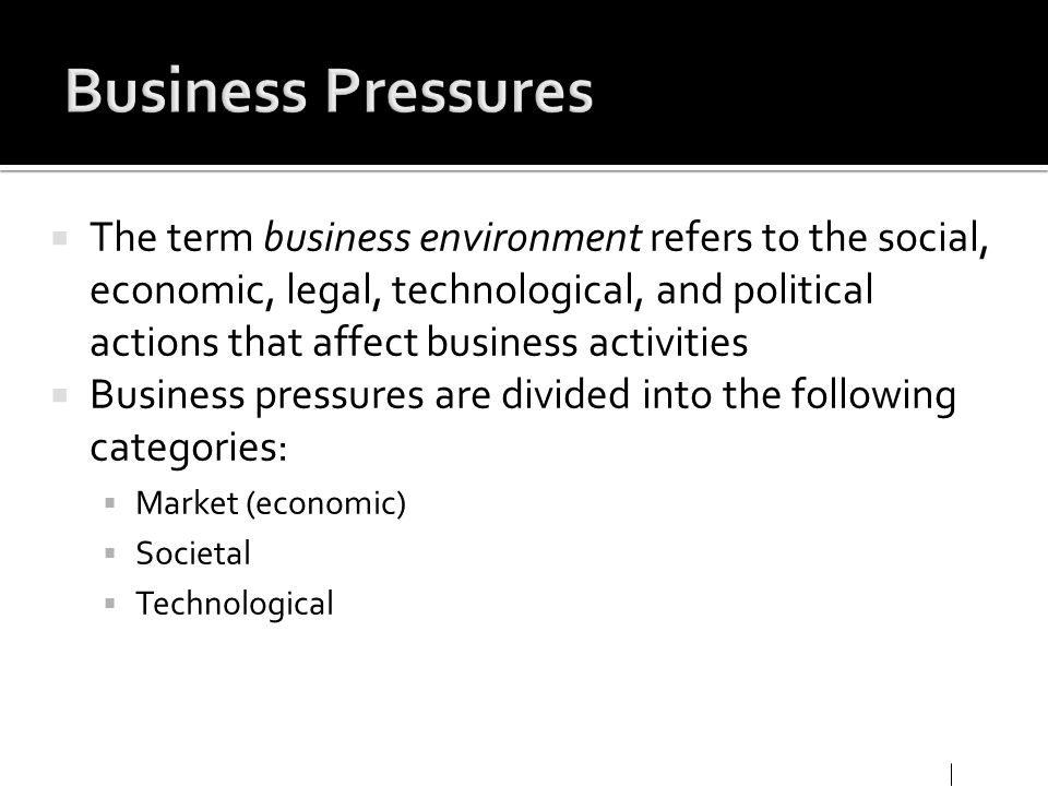 Business Pressures