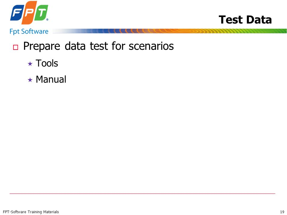 Prepare data test for scenarios