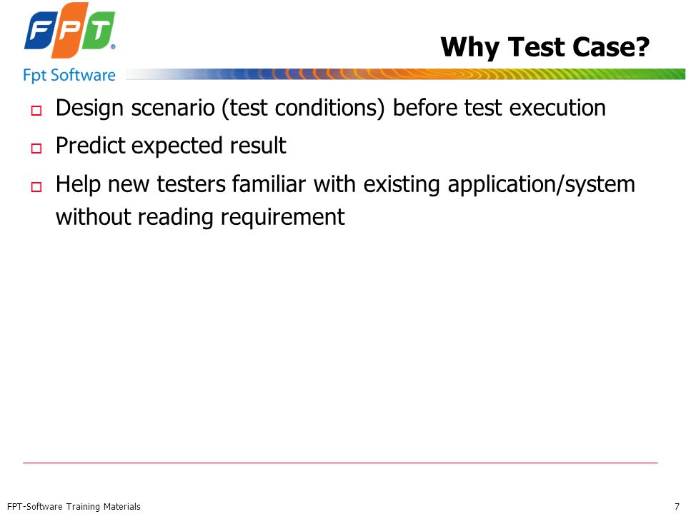 Why Test Case Design scenario (test conditions) before test execution