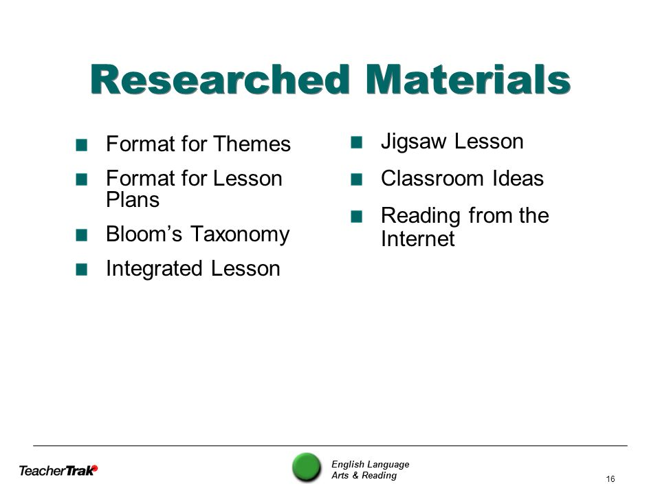 Researched Materials Jigsaw Lesson Format for Themes Classroom Ideas