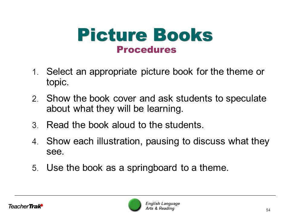 Picture Books Procedures