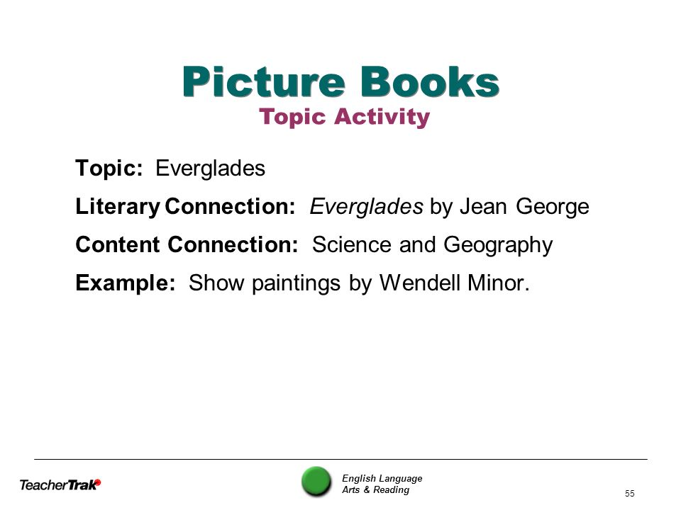 Picture Books Topic Activity Topic: Everglades