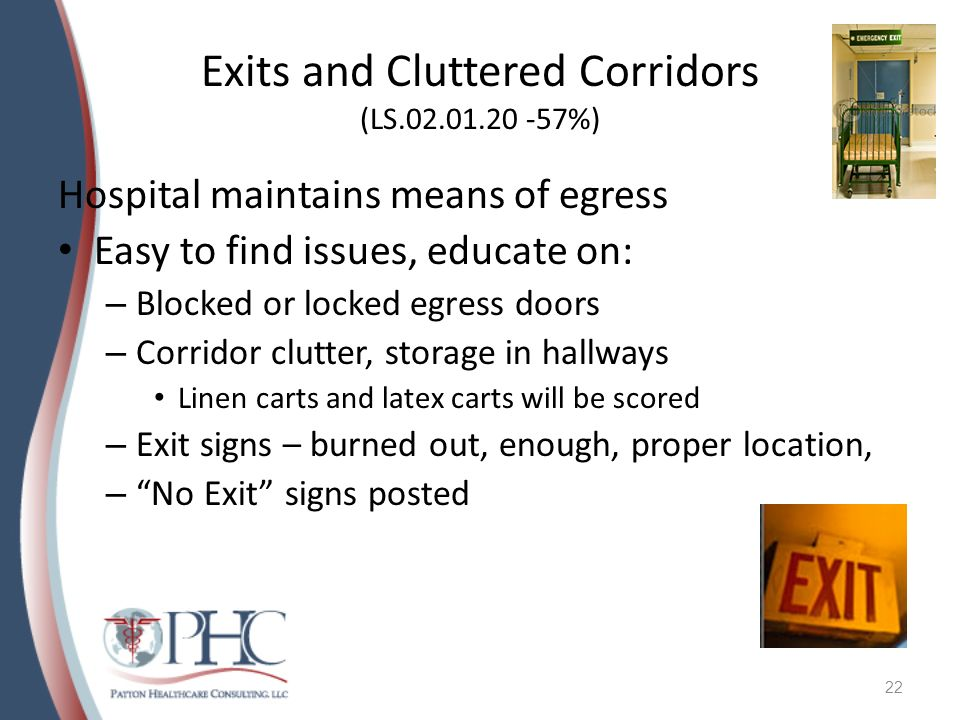 Exits and Cluttered Corridors (LS %)