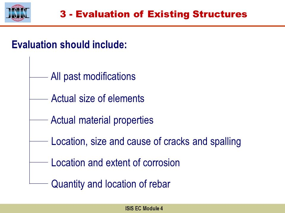 3 - Evaluation of Existing Structures