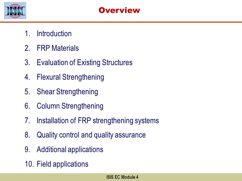 Evaluation of Existing Structures Flexural Strengthening