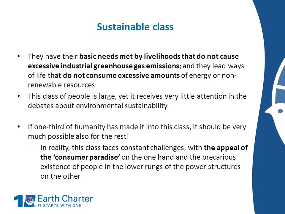 Sustainable class