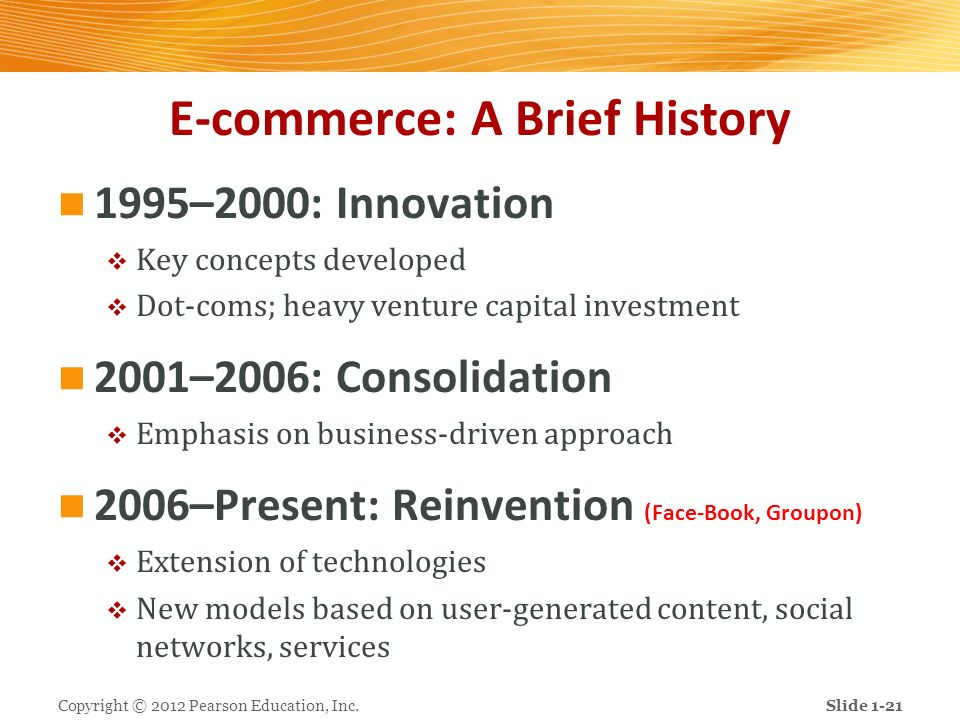 E-commerce: A Brief History