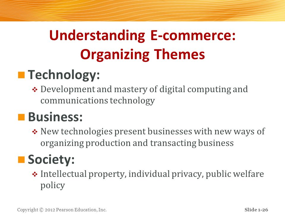 Understanding E-commerce: Organizing Themes