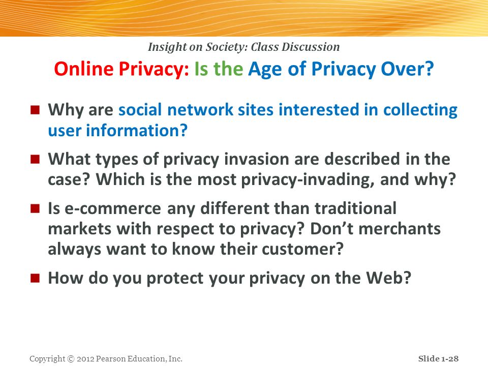 Online Privacy: Is the Age of Privacy Over