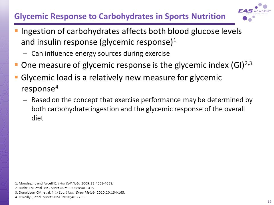 Glycemic Response to Carbohydrates in Sports Nutrition