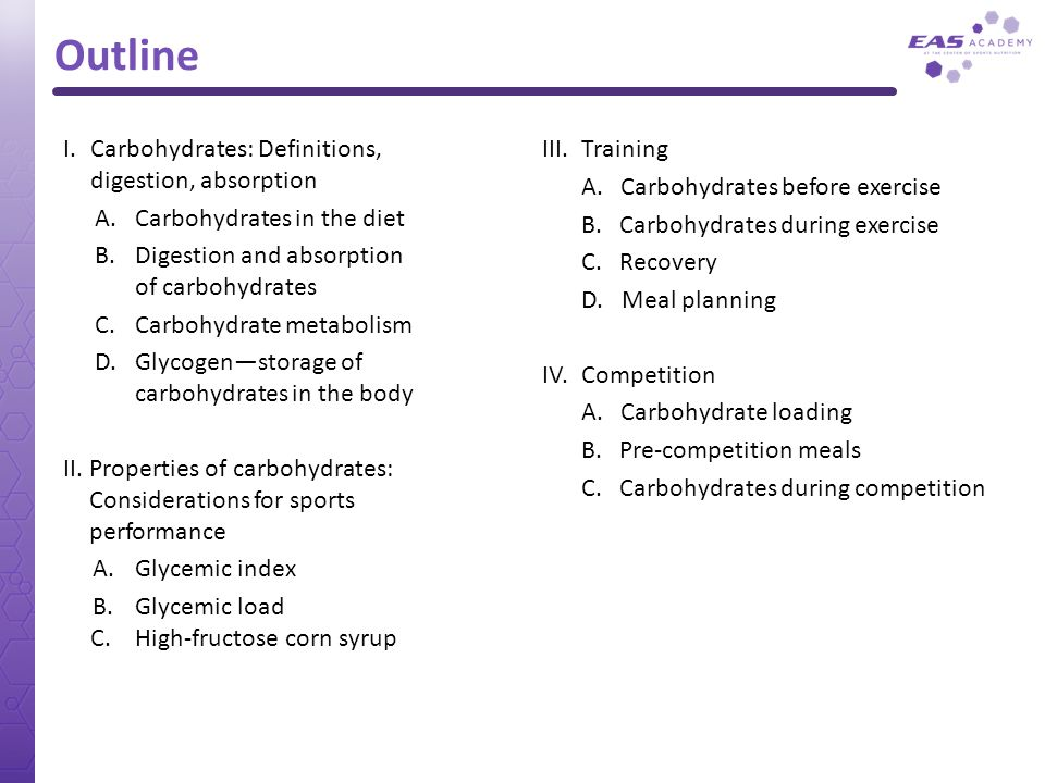Outline I. Carbohydrates: Definitions, digestion, absorption