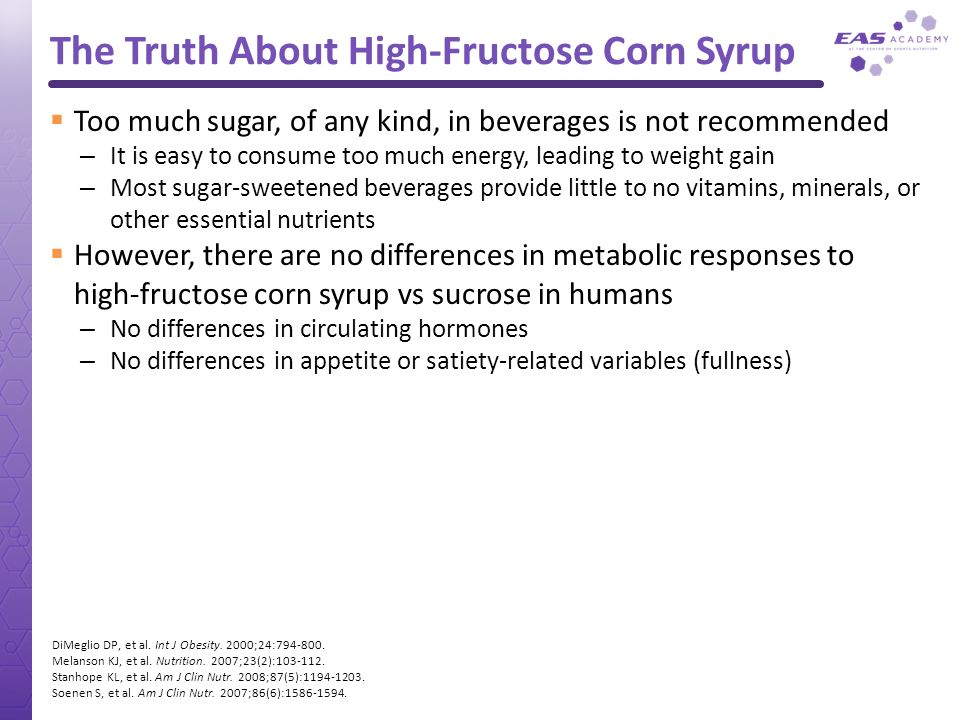 The Truth About High-Fructose Corn Syrup
