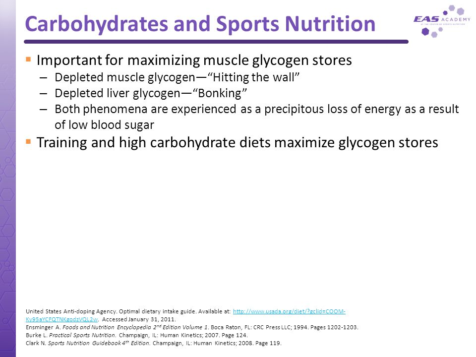 Carbohydrates and Sports Nutrition