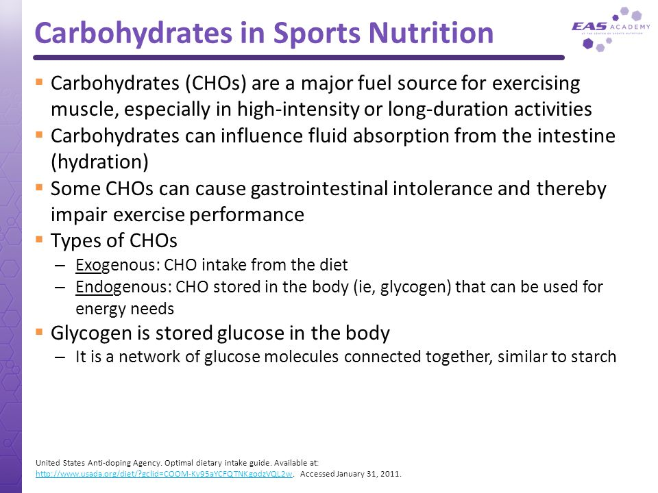 Carbohydrates in Sports Nutrition