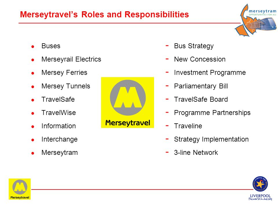 Merseytravel's Roles and Responsibilities