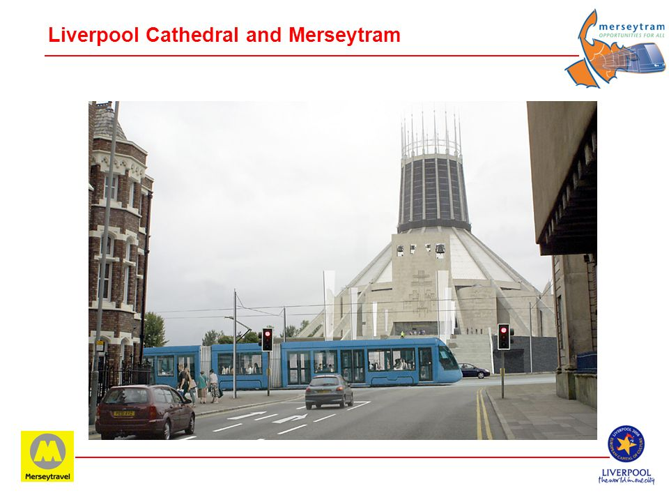 Liverpool Cathedral and Merseytram