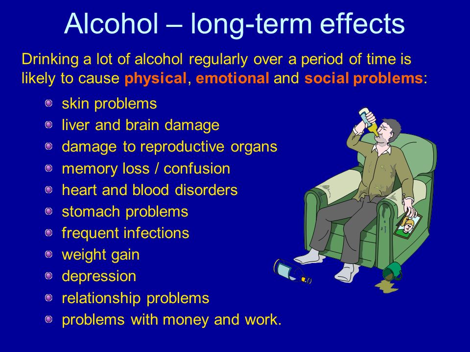 Alcohol – long-term effects
