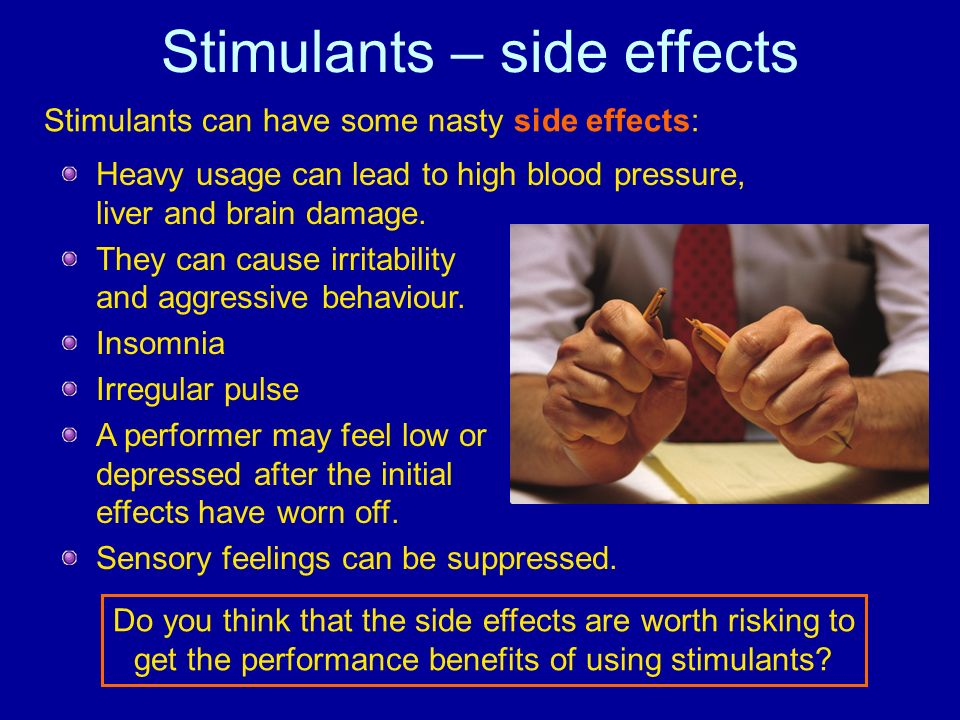 Stimulants – side effects