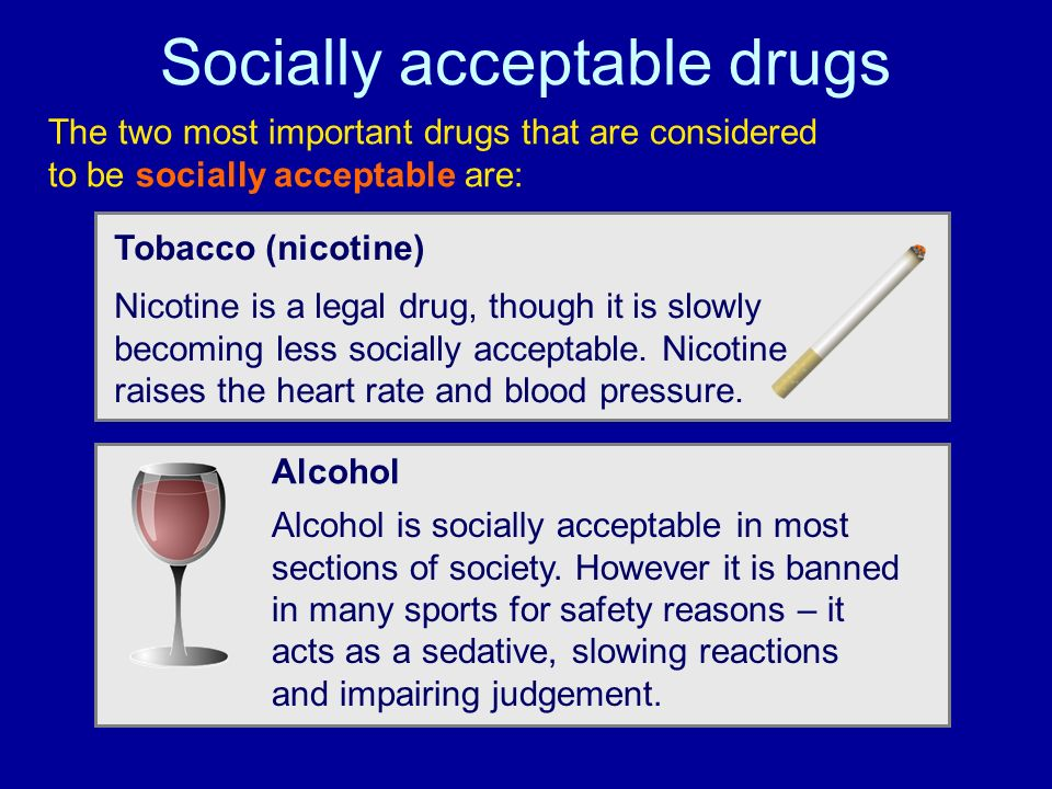 Socially acceptable drugs