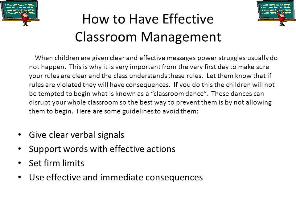 importance of effective classroom management