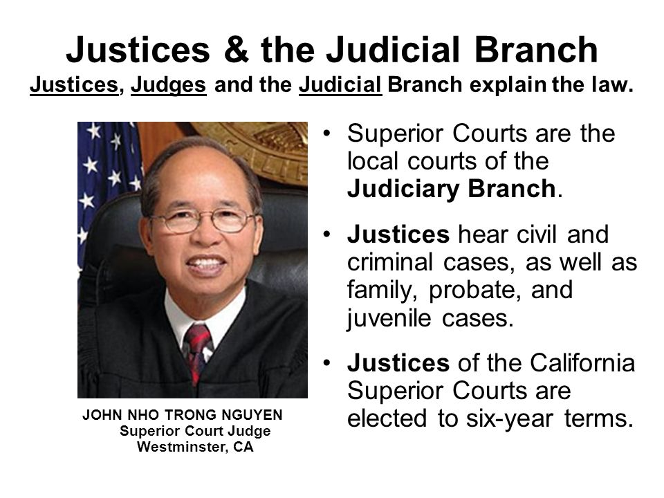 JOHN NHO TRONG NGUYEN Superior Court Judge Westminster, CA
