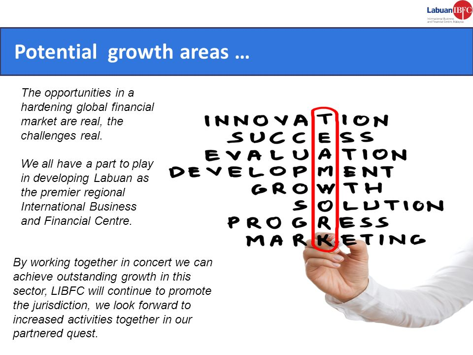 Potential growth areas …