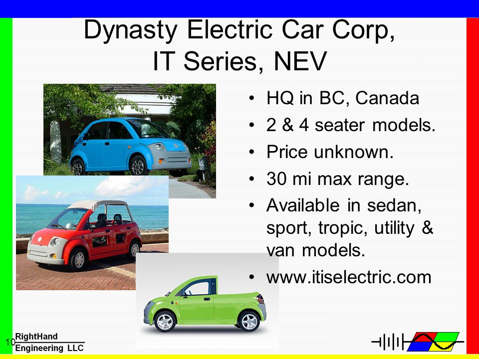 Dynasty Electric Car Corp, IT Series, NEV