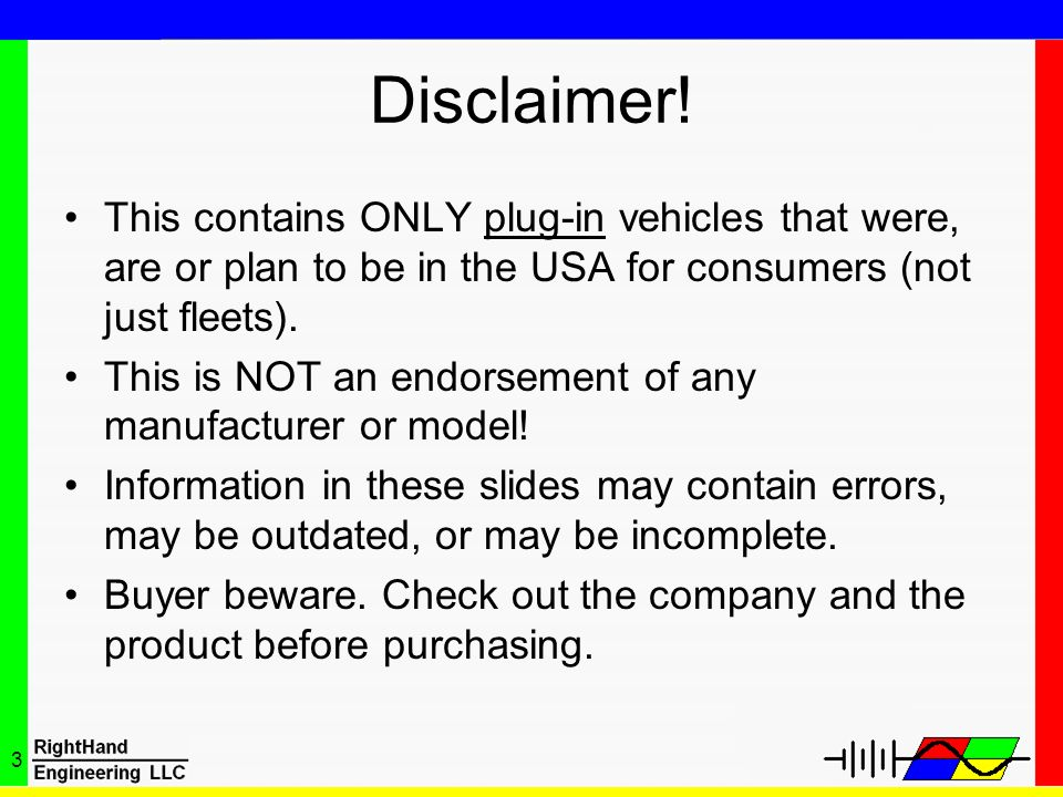 Disclaimer! This contains ONLY plug-in vehicles that were, are or plan to be in the USA for consumers (not just fleets).